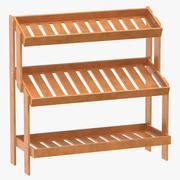 Oak Wood Display Rack 3d model