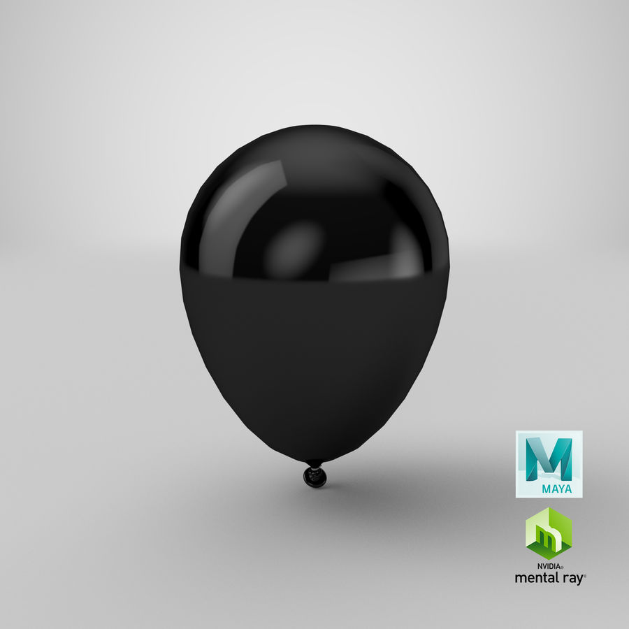 Balloon royalty-free 3d model - Preview no. 18