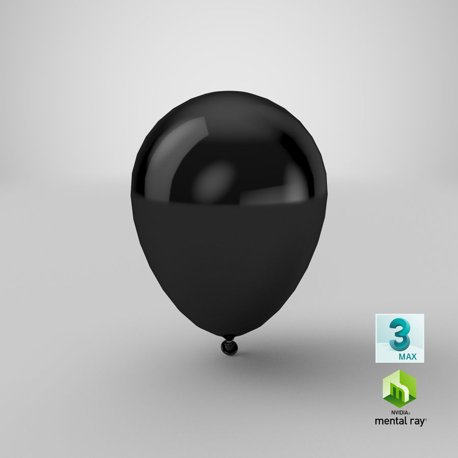 Balloon royalty-free 3d model - Preview no. 20