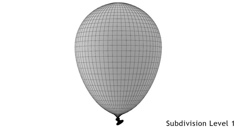 Balloon royalty-free 3d model - Preview no. 11