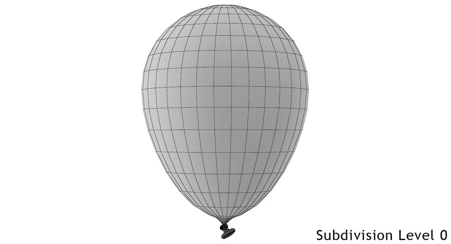 Balloon royalty-free 3d model - Preview no. 10