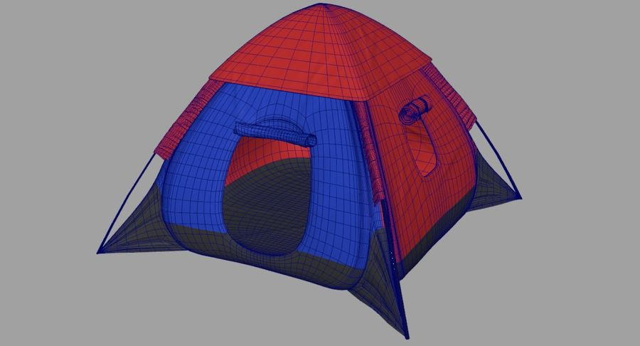 Camping Tent royalty-free 3d model - Preview no. 23