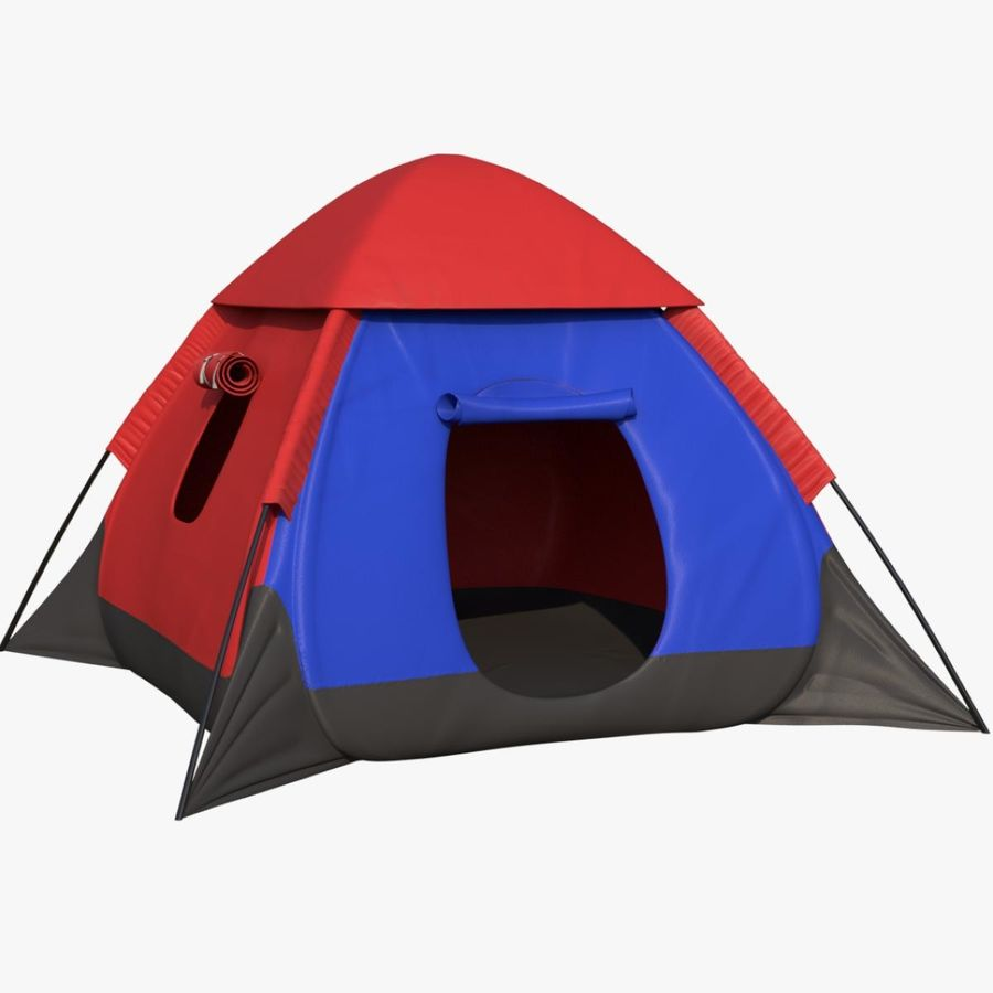 Camping Tent royalty-free 3d model - Preview no. 1
