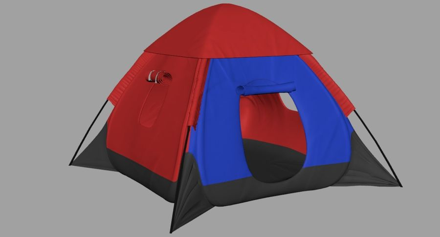 Camping Tent royalty-free 3d model - Preview no. 22