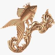 Fish X2 Goldfish 3d model