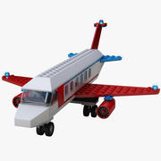 Lego Flugzeug 3d model