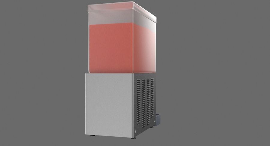Cold Drink Dispenser (Cherry) royalty-free 3d model - Preview no. 6