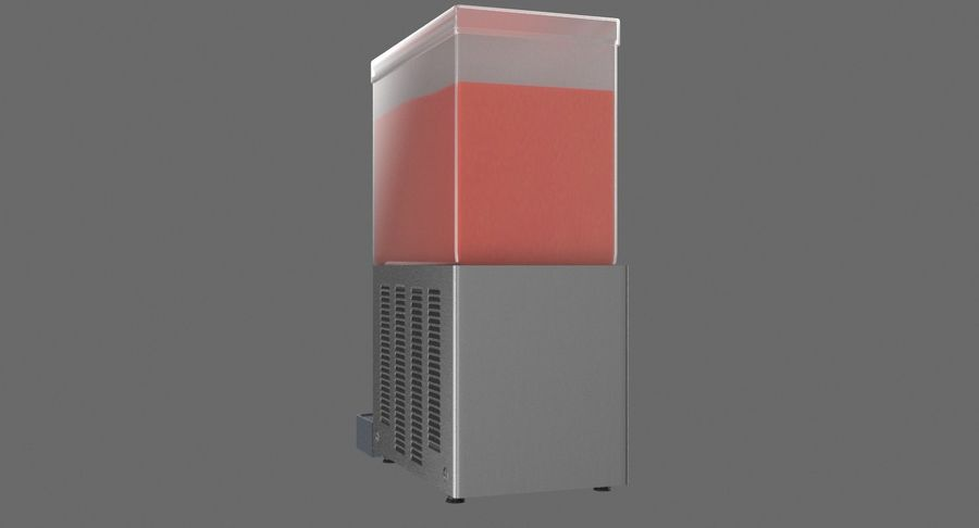 Cold Drink Dispenser (Cherry) royalty-free 3d model - Preview no. 7