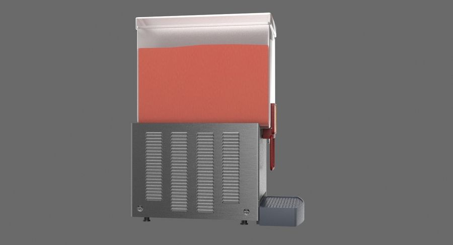 Cold Drink Dispenser (Cherry) royalty-free 3d model - Preview no. 5