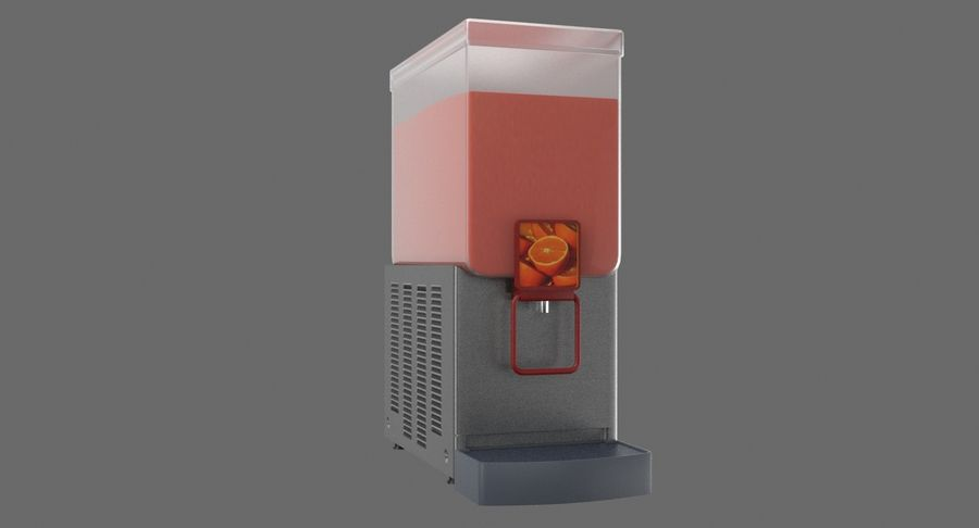 Cold Drink Dispenser (Cherry) royalty-free 3d model - Preview no. 4
