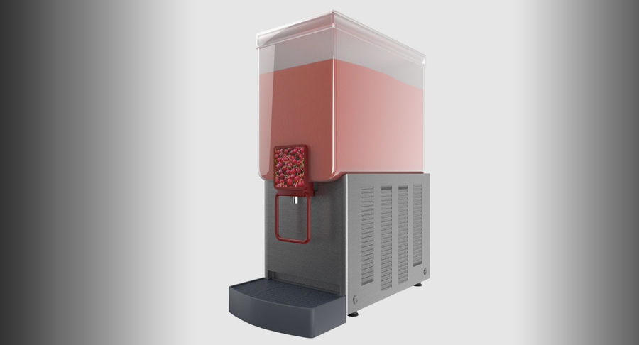 Cold Drink Dispenser (Cherry) royalty-free 3d model - Preview no. 3