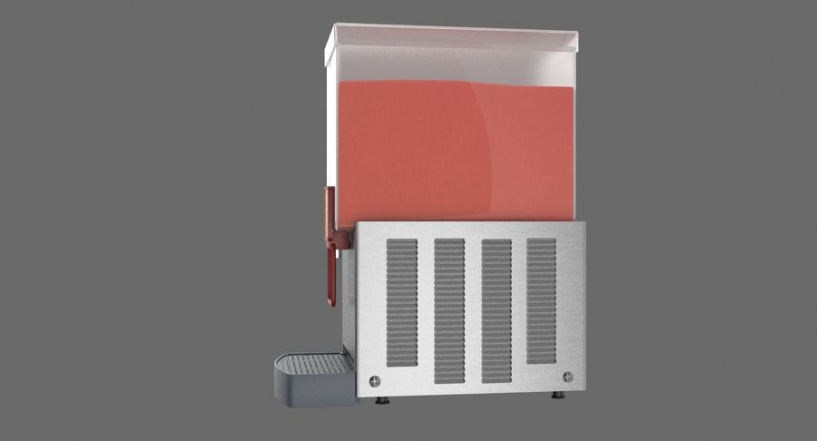 Cold Drink Dispenser (Cherry) royalty-free 3d model - Preview no. 8