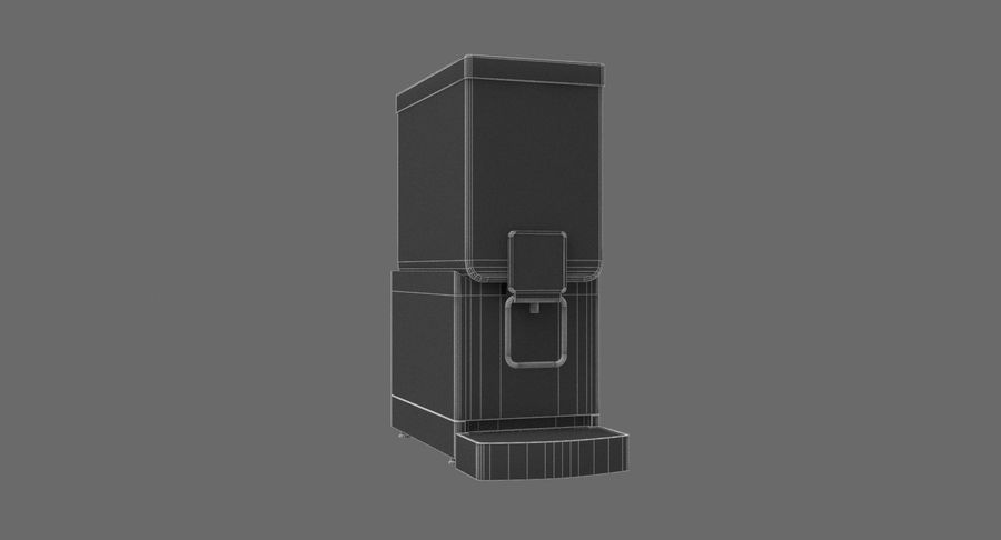 Cold Drink Dispenser (Cherry) royalty-free 3d model - Preview no. 9