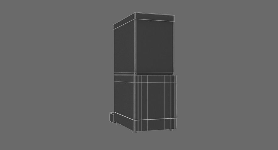 Cold Drink Dispenser (Cherry) royalty-free 3d model - Preview no. 10