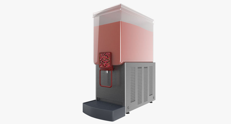 Cold Drink Dispenser (Cherry) royalty-free 3d model - Preview no. 2