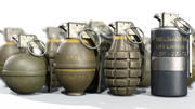 Grenade à main American Frag PACK M26 M67 MK2 MK3 3d model