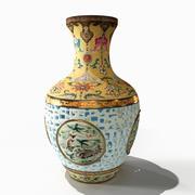 Vaso da dinastia Qing 3d model