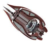 Elegancki statek kosmiczny science fiction 3d model