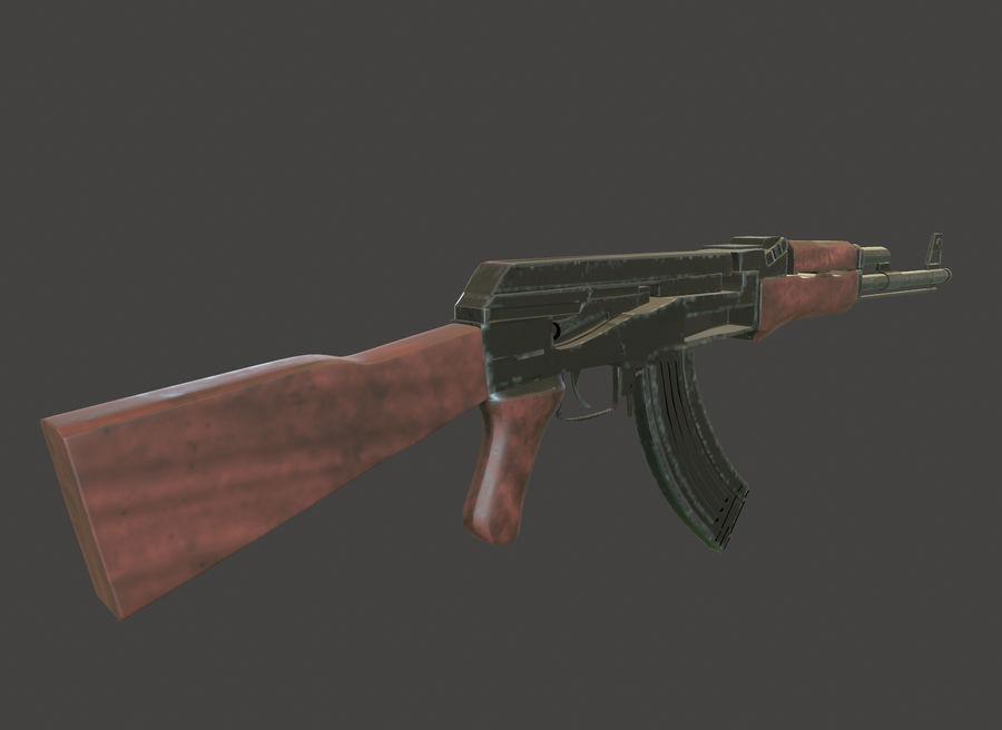 AK 47 (Avtomat Kalashnikova) royalty-free 3d model - Preview no. 9