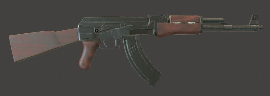 AK 47 (Avtomat Kalashnikova) royalty-free 3d model - Preview no. 8