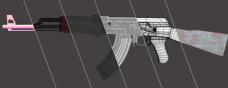 AK 47 (Avtomat Kalashnikova) royalty-free 3d model - Preview no. 1
