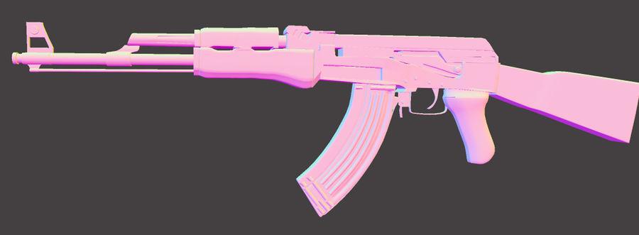 AK 47 (Avtomat Kalashnikova) royalty-free 3d model - Preview no. 2
