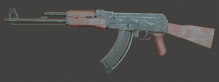 AK 47 (Avtomat Kalashnikova) royalty-free 3d model - Preview no. 6
