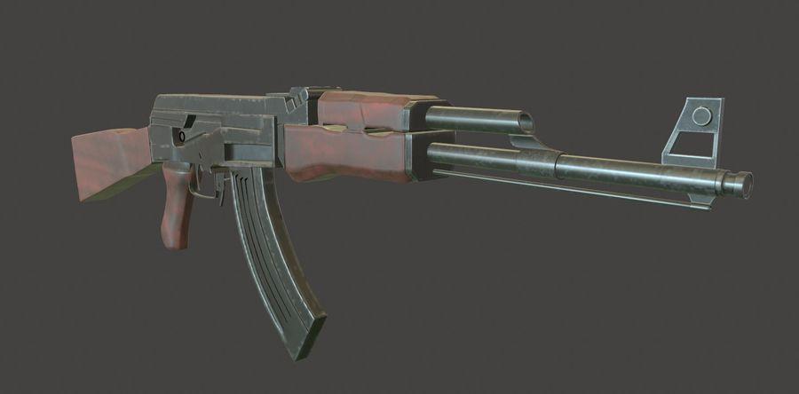 AK 47 (Avtomat Kalashnikova) royalty-free 3d model - Preview no. 10