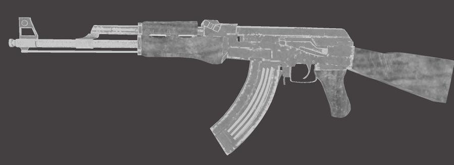 AK 47 (Avtomat Kalashnikova) royalty-free 3d model - Preview no. 5