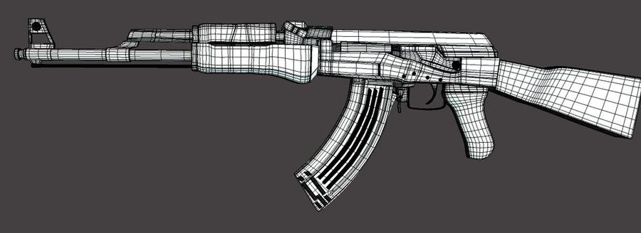 AK 47 (Avtomat Kalashnikova) royalty-free 3d model - Preview no. 4