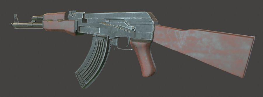 AK 47 (Avtomat Kalashnikova) royalty-free 3d model - Preview no. 7