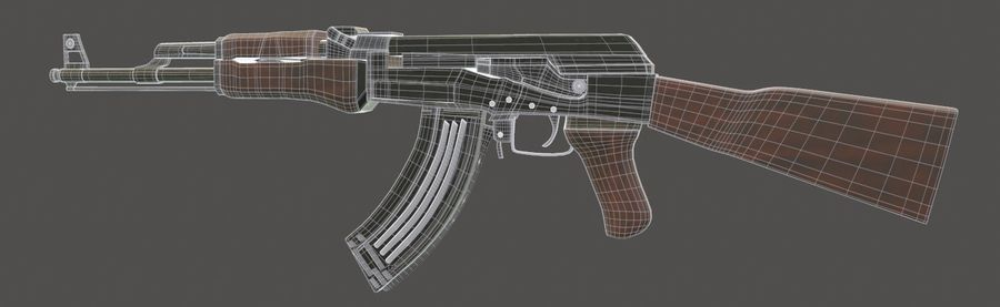 AK 47 (Avtomat Kalashnikova) royalty-free 3d model - Preview no. 12