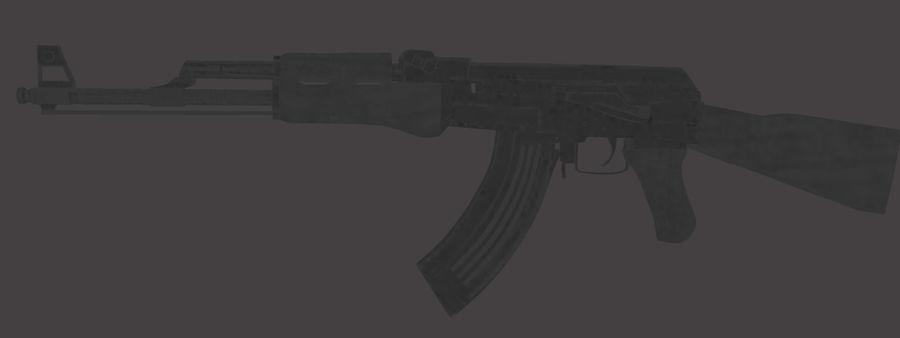 AK 47 (Avtomat Kalashnikova) royalty-free 3d model - Preview no. 3