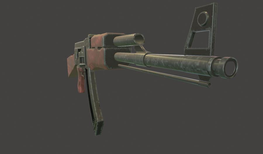 AK 47 (Avtomat Kalashnikova) royalty-free 3d model - Preview no. 11