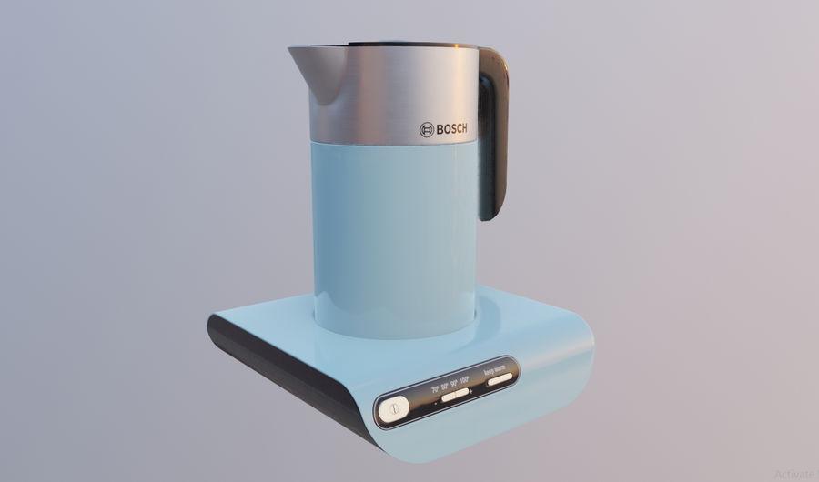 aparelho de cozinha chaleira elétrica royalty-free 3d model - Preview no. 2