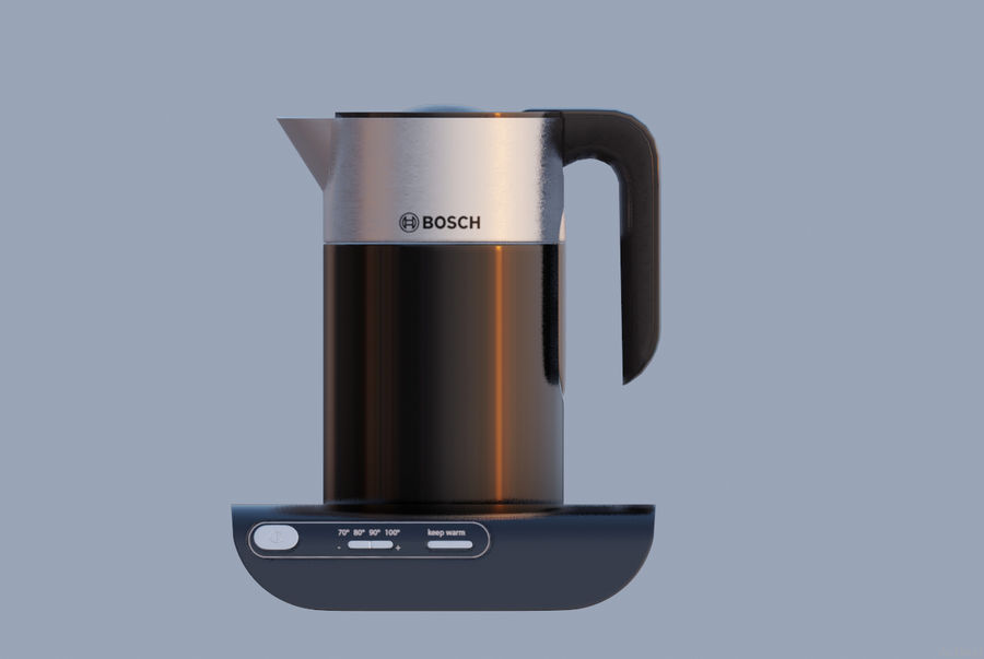 aparelho de cozinha chaleira elétrica royalty-free 3d model - Preview no. 1