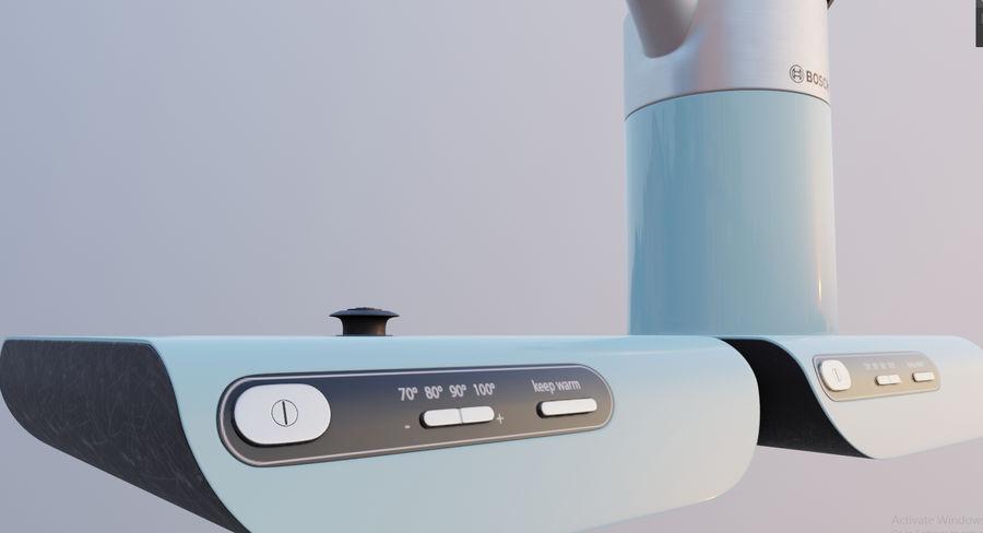 aparelho de cozinha chaleira elétrica royalty-free 3d model - Preview no. 8