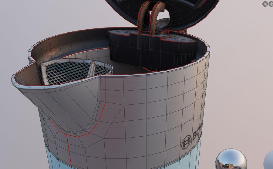 aparelho de cozinha chaleira elétrica royalty-free 3d model - Preview no. 13