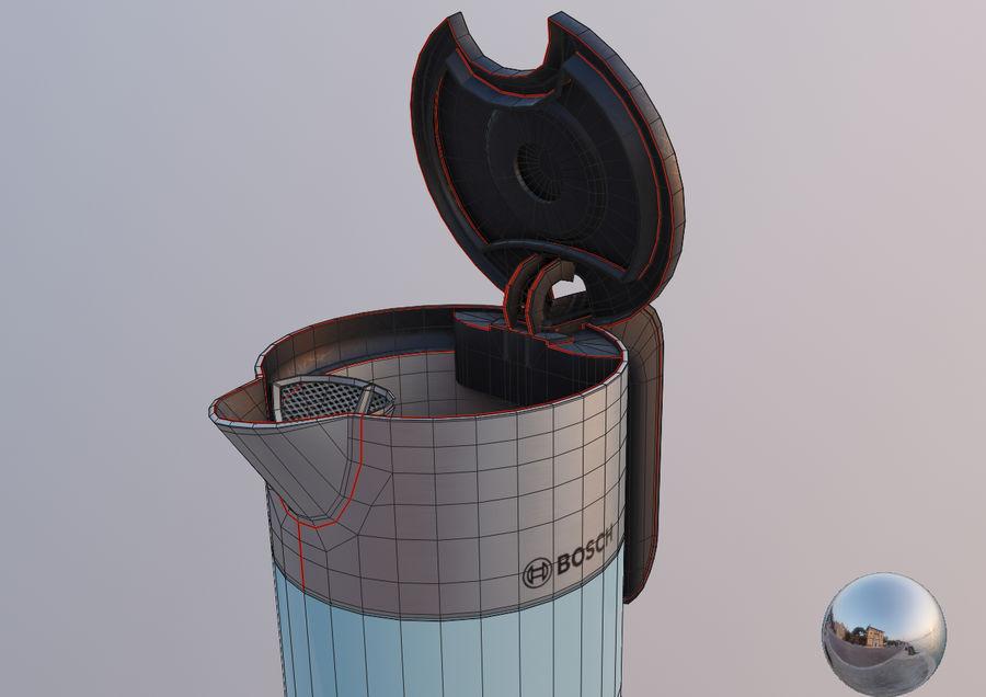 aparelho de cozinha chaleira elétrica royalty-free 3d model - Preview no. 12