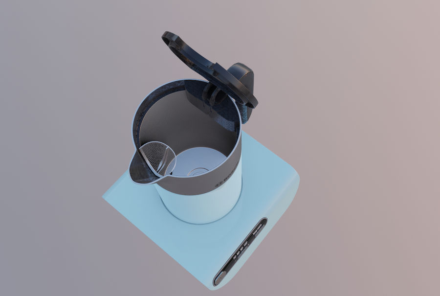 aparelho de cozinha chaleira elétrica royalty-free 3d model - Preview no. 3