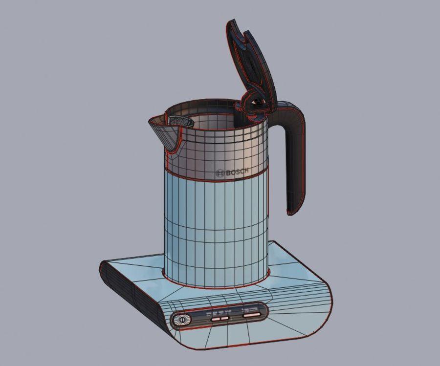 aparelho de cozinha chaleira elétrica royalty-free 3d model - Preview no. 10