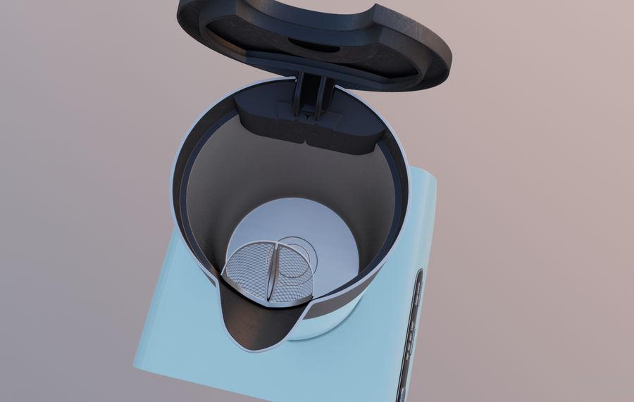 aparelho de cozinha chaleira elétrica royalty-free 3d model - Preview no. 5