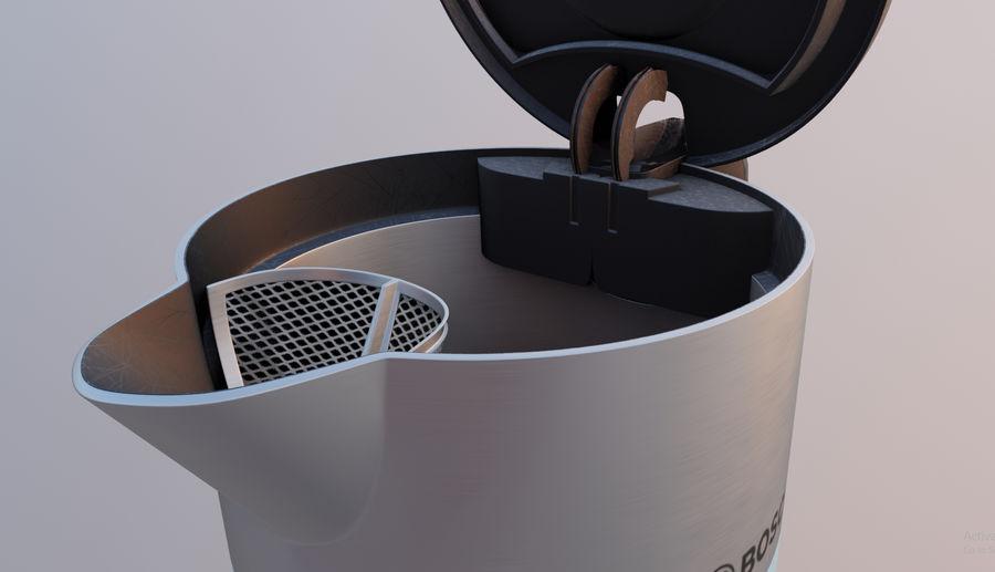 aparelho de cozinha chaleira elétrica royalty-free 3d model - Preview no. 4