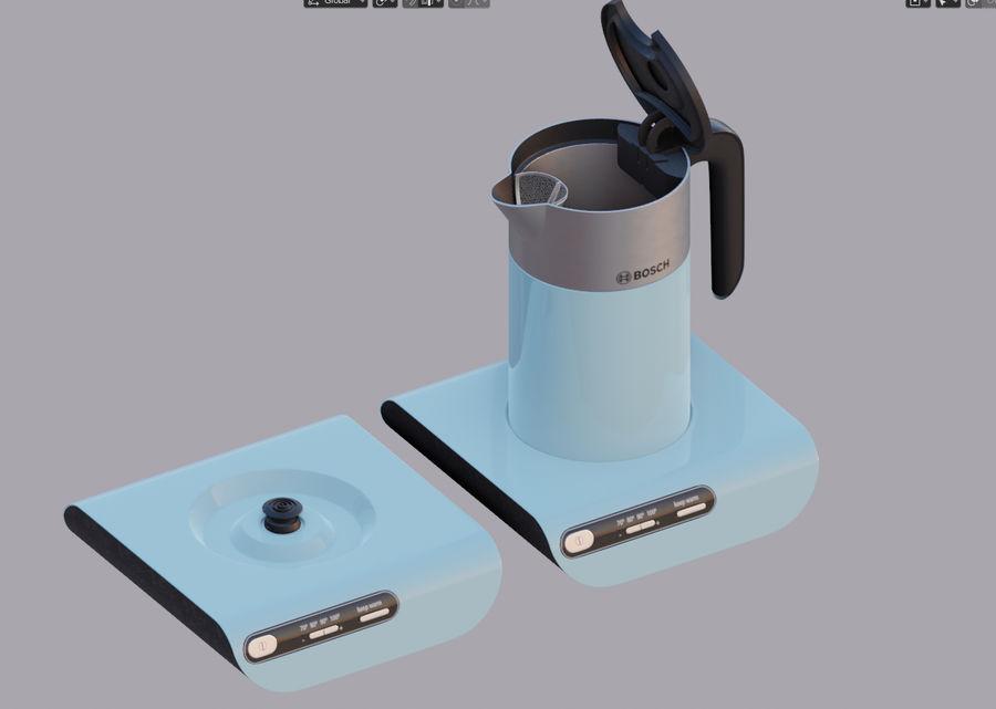 aparelho de cozinha chaleira elétrica royalty-free 3d model - Preview no. 9