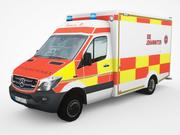 Mercedes-Benz Sprinter BlueTec Ambulance 3d model