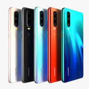 Huawei P30 Todos los colores modelo 3d