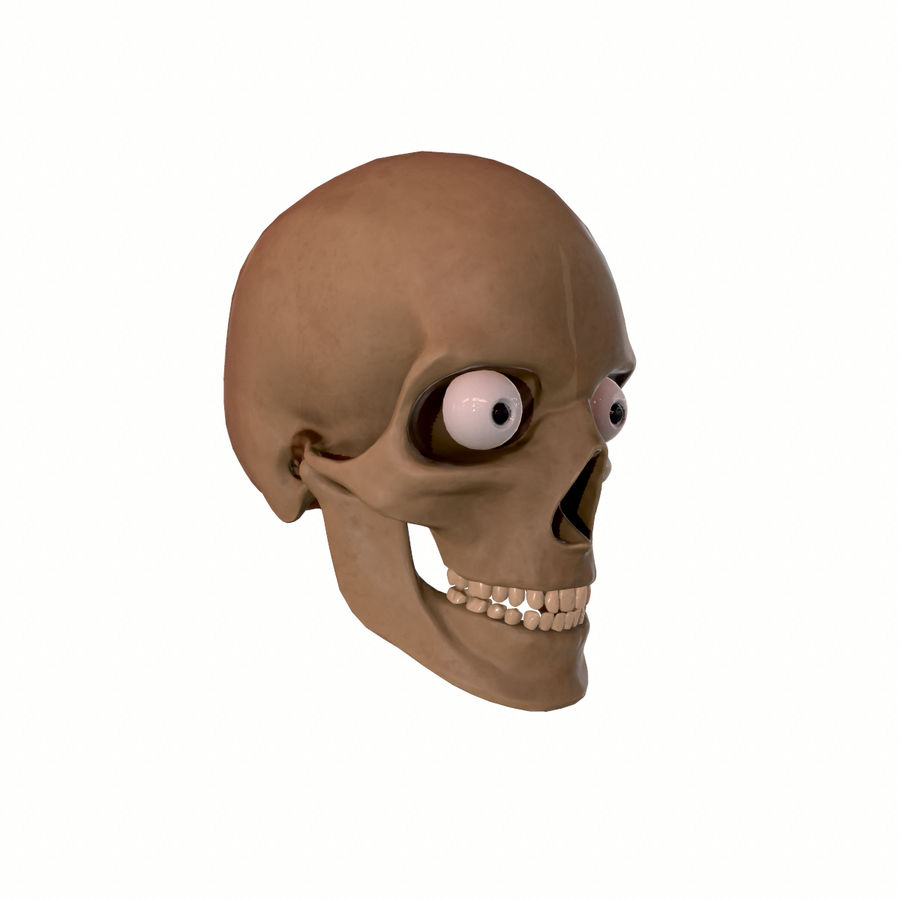 Hoofd gezicht spierstructuur anatomie royalty-free 3d model - Preview no. 13