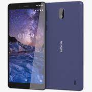 Nokia 1 Plus Blue 3d model