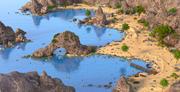 Fantasy Beach Umwelt 3d model