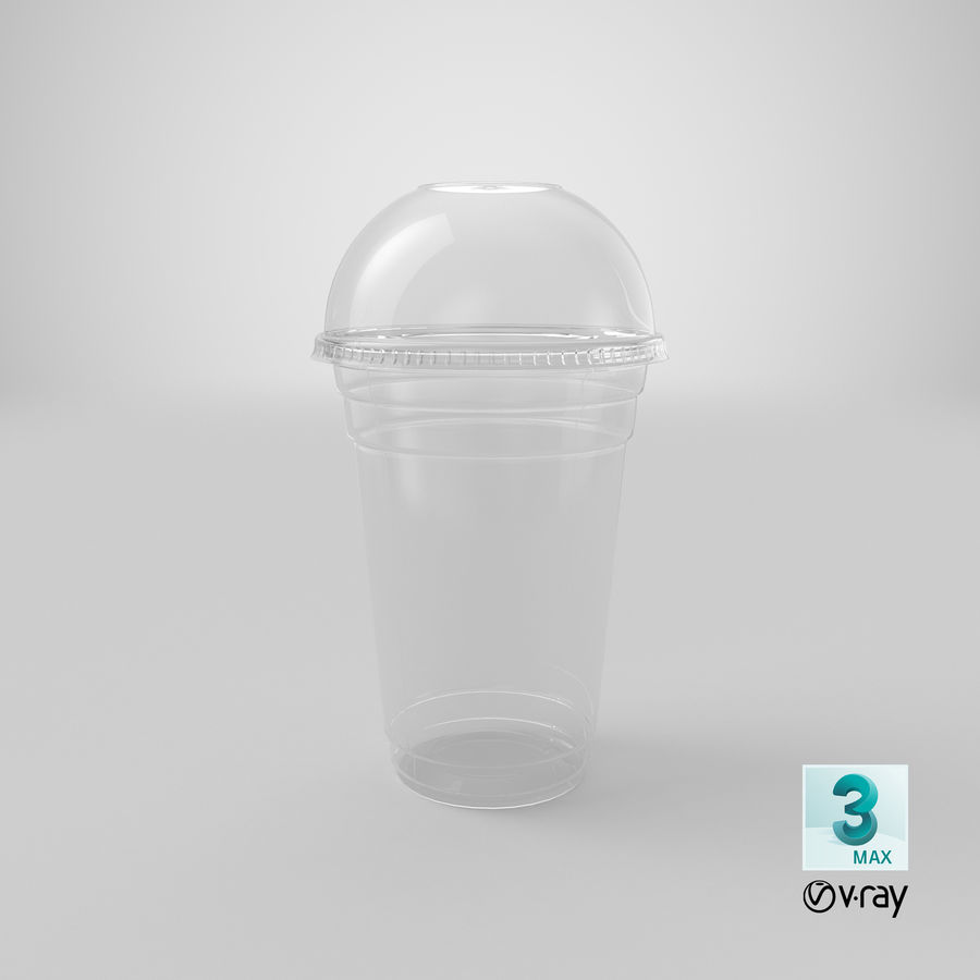 Smoothie Plastic Cup royalty-free 3d model - Preview no. 20